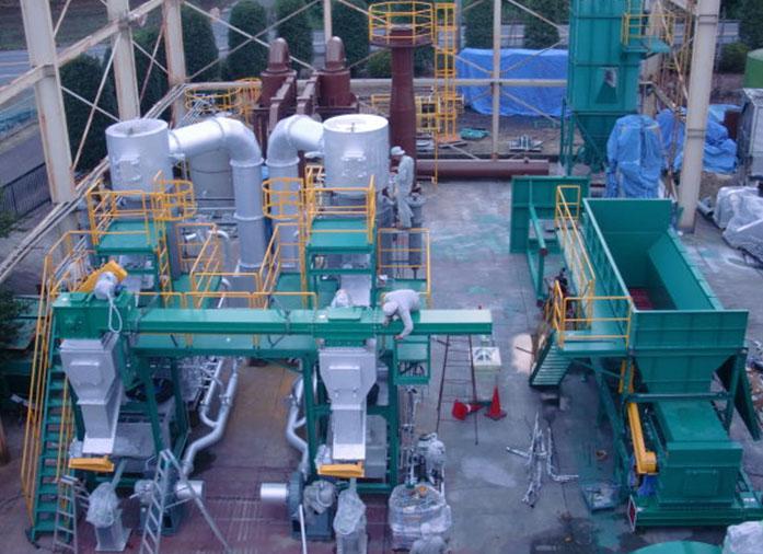 岩手県のY会社様 工場で二連型仮組立、点検作業